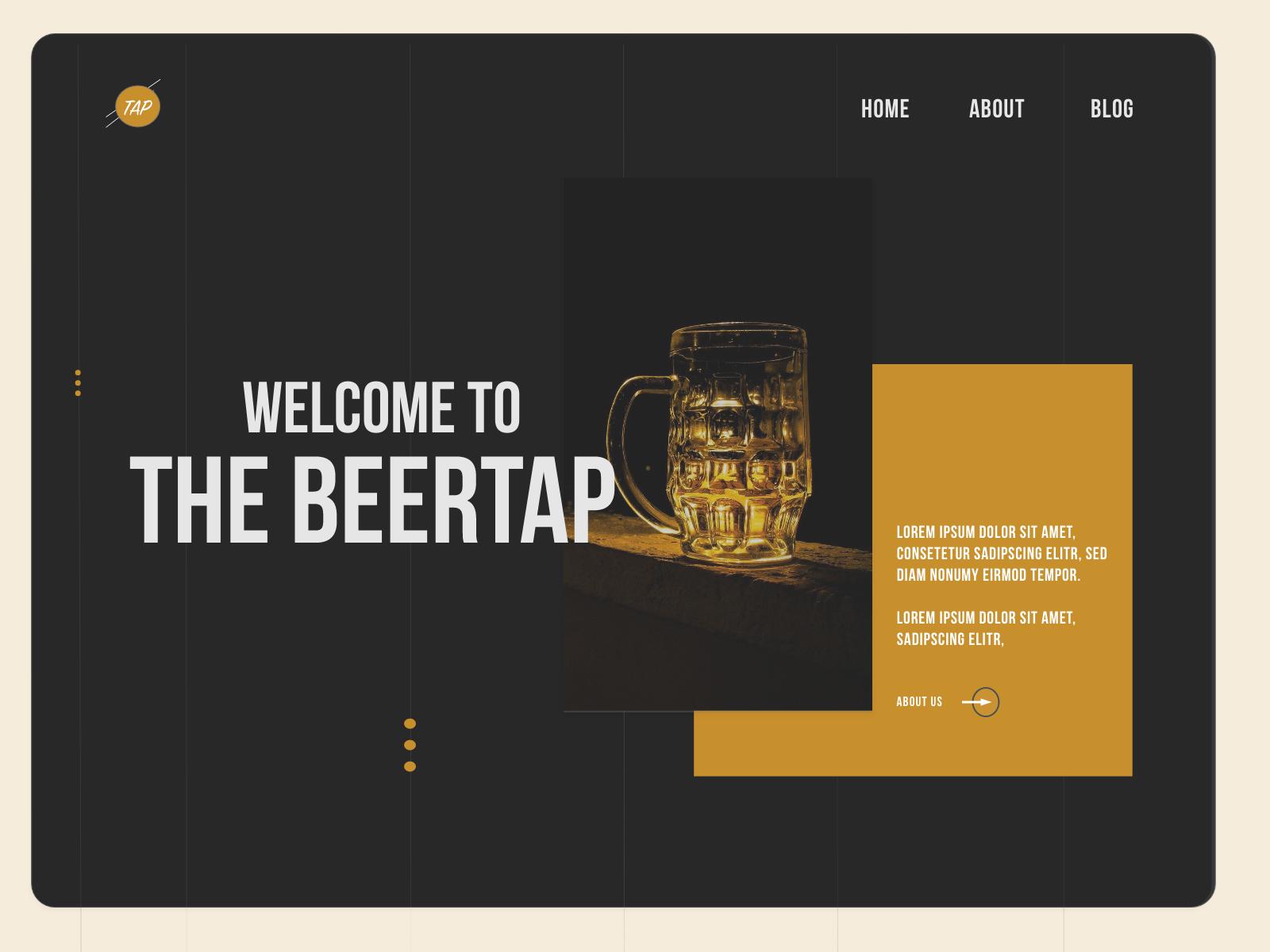 Beertap Landing Page - Design