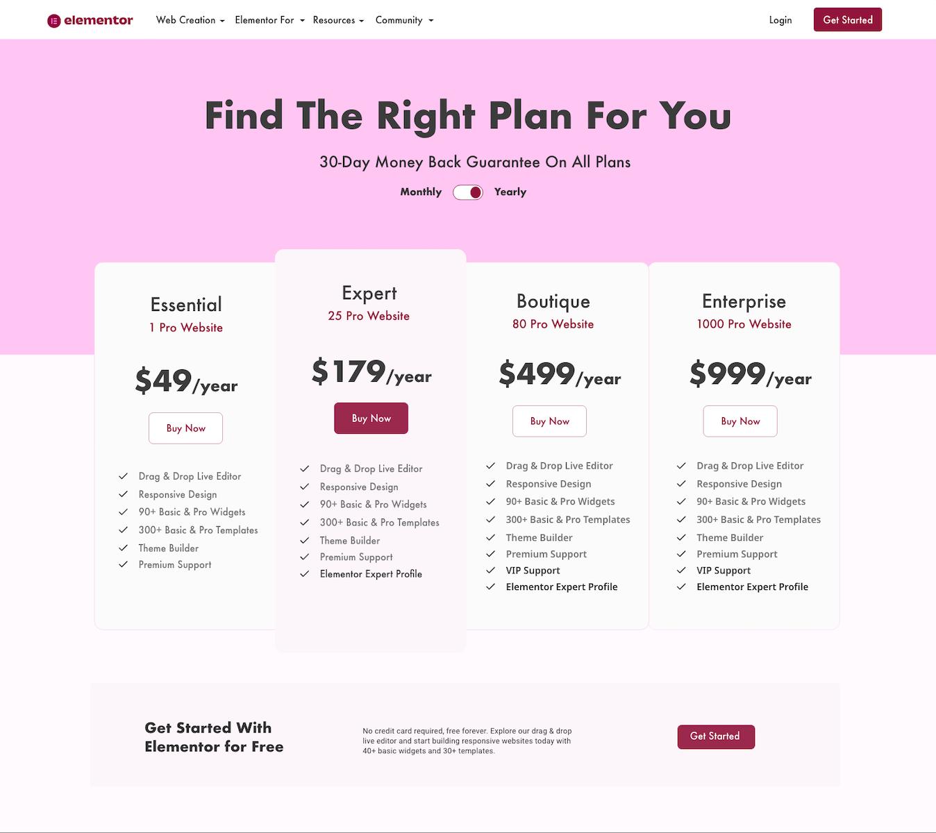 Elementor -Price List - Redesign - Design